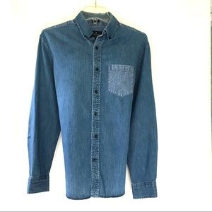 American Eagle Outfitters Womens Chambray Shirt M